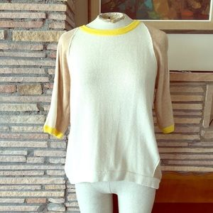 Anthropologie color block sweater top L